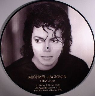 Michael Jackson Billie Jean 12 Vinyl Picture Disc Remix Single