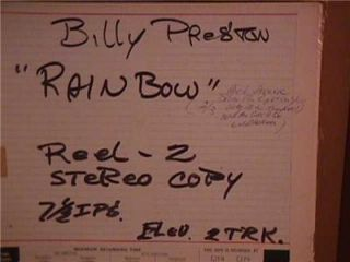 Master Tape Billy Preston Mick Jagger Rainbow Gospel in London Rolling