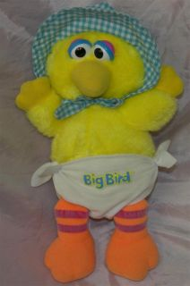 Playskool Sesame Street 12 Plush Yellow Baby Big Bird Diaper