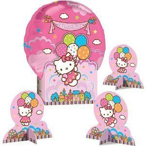 Hello Kitty Birthday Party Supplies Balloon Table Decorations