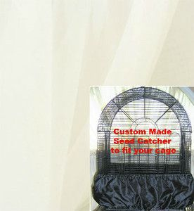 Medium Bird Cage Seed Catcher Skirt Guard Sheer Polyester Fabric 71