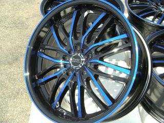 18 Blue Rim Wheel Tires RX8 Sebring Camry Eclipse Maxima Altima Accord