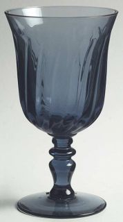 gorham crystal pattern gentry blue piece water glass goblet size 6