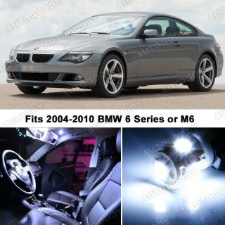 BMW 6 Series White LED Lights Interior Package Kit