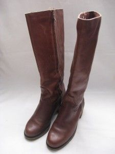 Womens ll Bean Blondo Leather Brown Knee High Boots Size 8