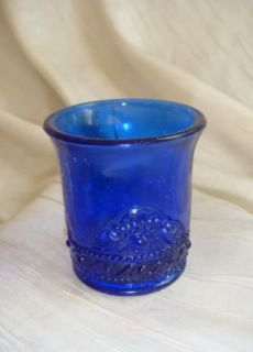 Colorado Toothpick Holder Cobalt Blue Glass