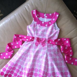 Bonnie Jean Girls Pink and White Dress