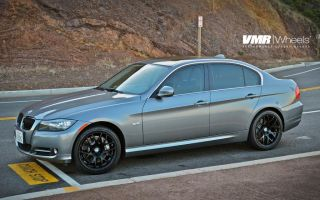 V710 Wheels Matte Black BMW 3 Series E90 E92 E93 328i 330i 335i