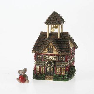 Boyds Bear BOYDS Little Red School House Belle McNibble Treasure Box