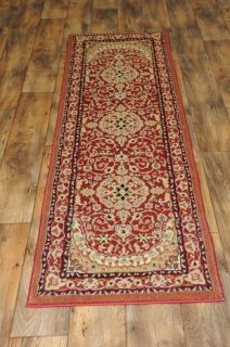French Border Red Medallion 2x73 Runner Area Rug Area Size 2x8 Free