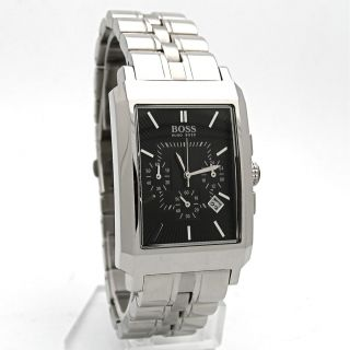 Authentic Hugo Boss Classic Chronograph Mens Stainless Steel Watch