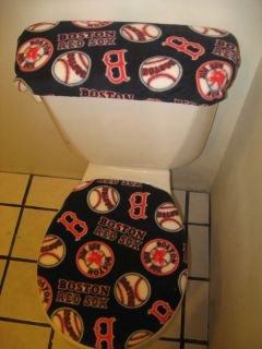 Boston Red Sox Toilet Seat Cover Set