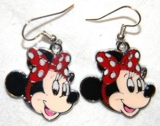 2741 Minnie Mouse Red Bow Earrings Free USA s H