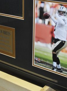 Drew Brees Saints Signed Autographed Framed Jersey PSA DNA