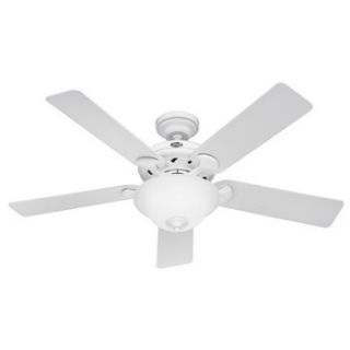 Hunter The Brookline 52 White Ceiling Fan with Light 22390 New