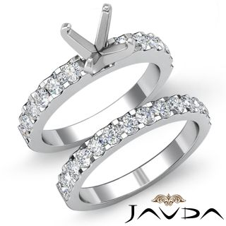 Round Diamond Engagement Wedding Ring Bridal Sets 14k Gold White