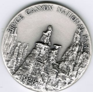 1928 Bryce Canyon National Park Medal Silver 999 Fine Medallic Art Co