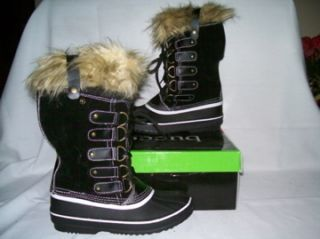 BUCCO capensis krista fur winter snow boots women size 10 black