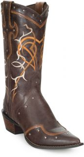 DURANGO RD4151 Leather 12 CRUSH Dusk Heart Brown Western Cowgirl Boots