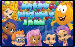 Bubble Guppies Personalized Half Sheet Edible Cake Image Topper