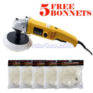 Electric Car Polisher Buffer Auto Car Paint Polisher w 5pc Soft