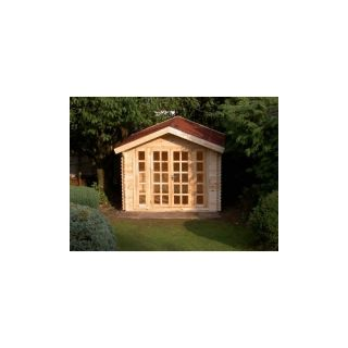All Natural Wood Garden Storage Shed Kit Play Pool House Cabana