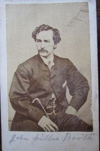 Civil War Era Lincoln Assassin John Wilkes Booth CDV~c1860