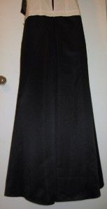 Jr Nites Caliendo Elegant Black White Sexy Wrap Evening Party Dress Sz