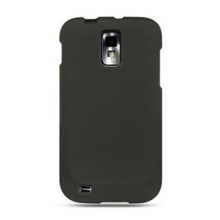 Solid Black Hard Skin Cover for T Mobile Samsung Galaxy s II 2 SGH
