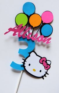 Custom Hello Kitty Cake Toppers or Table Centerpieces