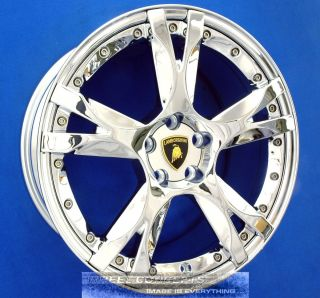 GALLARDO SPYDER 19 INCH 2 PIECE CALLISTO CHROME WHEEL EXCHANGE RIMS