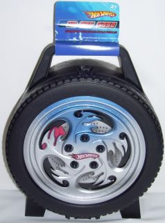 hot wheels 30 car wheel tire carrying carry case new
