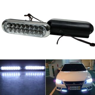 Car Truck Grille Universal Fog Aux 16 LED White Driving Day Light Bulb