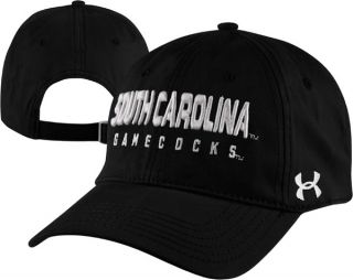South Carolina Gamecocks Black Under Armour Charged Cotton Adjustable