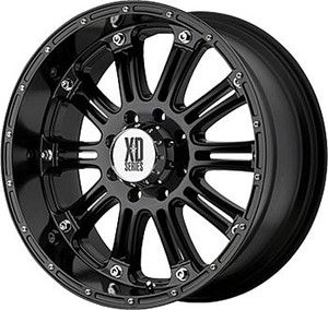 XD795 17x9 0 Hoss Black Offroad Truck Rims Wheels Nitto Tires
