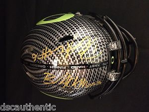 DeAnthony Thomas Oregon Ducks Signed Carbon Fiber Mini Helmet DSC