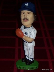 Catfish Hunter Bobblehead New York Yankees Baseball SGA Lot Ultra RARE