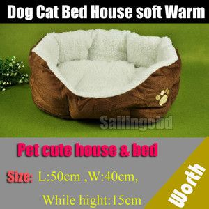 Pet Bed Dog Bed Cat Bed Soft Warm Bed for Pet Dog House Cat House