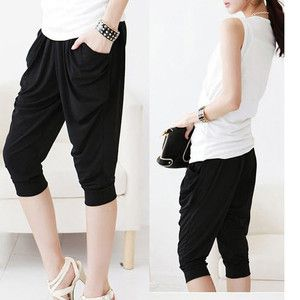 Color Korean Stylish Casual Elasticity Carrot pants Harem pants O