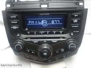 2003 03 Honda Accord Radio Aux 6 Disc CD Changer Player Radio Climate