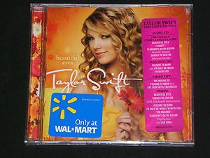 TAYLOR SWIFT Beautiful Eyes CD DVD  Exclusive NEW Big machine
