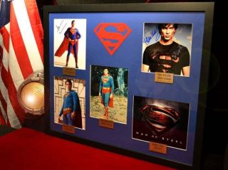 Signed AUTOGRAPHS Christoper Reeve, Cavill, Welling, Cain, Routh   COA