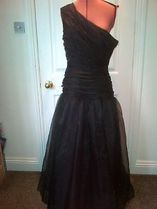 John Charles vintage black ball gown dress size uk 16 pristine