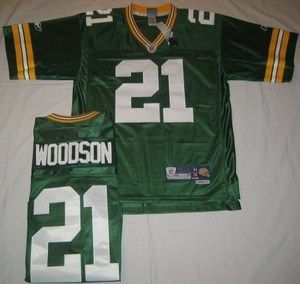 GREEN BAY PACKERS CHARLES WOODSON NFL JERSEY SEWN ON MEDIUM GREEN