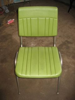 1950s Vintage Retro Cafeteria Chairs Heavy Duty Plastic and Steel