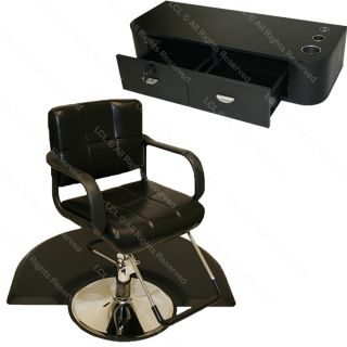 Hydraulic Barber Chair Mat Wall Mount Styling Station Beauty Spa Salon
