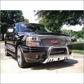 02 06 Chevrolet Avalanche 2500 Black Horse Stainless Steel Bull Bar