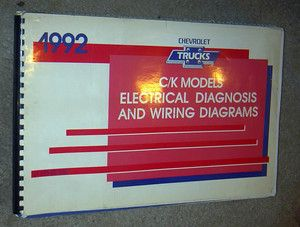 1992 CHEVROLET GMC CK TRUCKS WIRING DIAGRAMS MANUAL GAS & 6.2L DIESEL