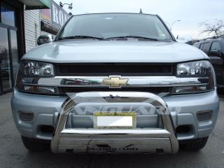 02 09 CHEVROLET CHEVY TRAILBLAZER FRONT BULL BAR BUMPER GUARD W/ SKID