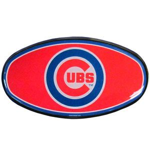 Chicago Cubs 2 Durable Plastic Trailer Hitch Cover with Domed Team